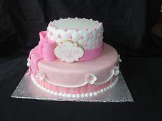 Stunning baptism cake!