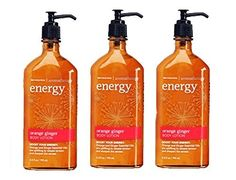 Lot of 3 Bath  Body Works Aromatherapy Energy Orange Ginger Body Lotion 65 Fl Oz Each Orange Ginger >>> Find out more about the great product at the image link.