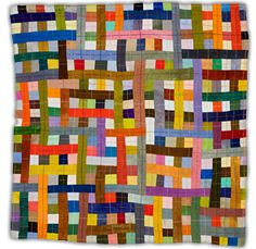 A quilt to make from all of the Bonnie Hunter strips I am hoarding - I mean, collecting.