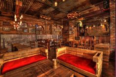 """Cafe1860""  (designed by Morteza Sharif) is one of the best country spot you can find! Rustic desgin theme is awesome! They use pallet wood to covered walls, objects mostly are hand made,the creative design and ideas used for bathroom is a great peace of work! It is truly legacy of wild west! coffee shop 1860, western theme, western design, wild west, pallet design, lighting ideas, best cafe, best coffeeshop, cowboys theme, western bar"