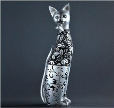 New Creative Retro Style Abstract Cat Resin Model Home Decoration Gift D-8 in Toys, Hobbies, Model Building, Character Figurines   eBay
