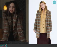 Ava Jalali Fashion on Pretty Little Liars The Perfectionists Fashion Tv, Cute Fashion, Fashion Ideas, Fashion Outfits, Tv Show Outfits, College Outfits, Plaid Suit, Sofia Carson, Tweed Coat