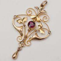 Antique Victorian & Edwardian Fine Necklaces & Pendants for sale Garnet Jewelry, Enamel Jewelry, Fine Jewelry, Edwardian Jewelry, Antique Jewelry, Vintage Jewelry, Bijoux Art Nouveau, Art Nouveau Jewelry, Jewelry Accessories