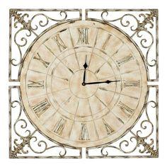 Safavieh Kathleen Clock 27-in. Round Wall Clock, Multicolor