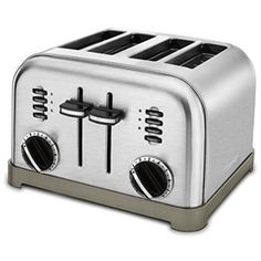 ContentsWhat is the best toaster?Best 4 Slice ToasterCuisinart Metal Classic toasterCuisinart Compact Stainless ToasterKitchenAid Candy Apple Red Pro Line ToasterDualit . Best 4 Slice Toaster, Bread Toaster, Stainless Steel Toaster, Brushed Stainless Steel, Stainless Kitchen, Stainless Appliances, Brushed Metal, Toaster, Souvenir