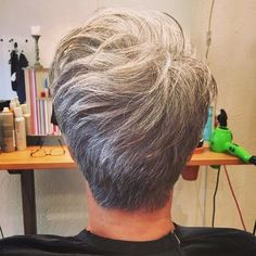 Short Tapered Gray Hairstyle