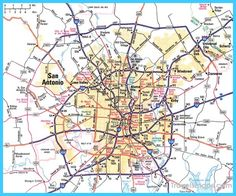 awesome Map of San Antonio Texas