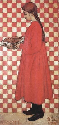 Carl Larsson (Swedish, 1853-1919) - Kersti with Breadbasket, 1907