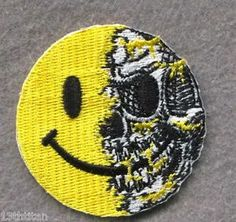 Velcro Patch Smiley Skull Morale Tactical Airsoft Pew Pew Patch Funny Jacket | eBay