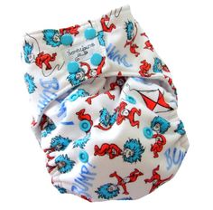Oh my word. How awesome is this Dr Seuss cloth diapers?! It's a One Size Pocket Cloth Diaper with Bamboo Organic Cotton inserts by honeybuns.