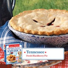 50 States in 50 Days: Tennessee :: Fresh Blackberry Pie  Find regional Southern recipes like this one and more in our new cookbook, Recipes Across America---->  http://www.tasteofhome.com/rd.asp?id=22997