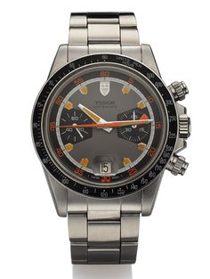 Tudor Ref. 7031 Monte Carlo Home Plate Oysterdate Chronograph Steel sold in an @Antiquorum New York auction for $22,500. Have a watch to sell? Call us at (212) 750-1103 or email clientadvisory@Antiquorum.com.