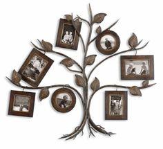 rustic tree photo collage