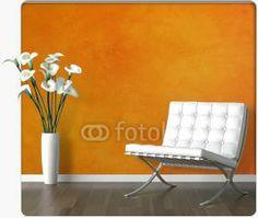 Orange ! InkShuffle | Wallpaper, Custom Wall Murals. Millions of designs. As big as 50 feet x 50 feet. Peel Off Wallpaper, Custom Wall Murals, Orange Walls, Barcelona Chair, Big, Furniture, Design, Home Decor, Decoration Home
