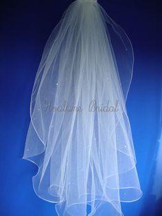 VEIL Bridal veil wedding veil short veil Veil by Hoalanebridal #weddings #brides