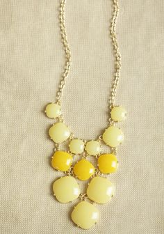 Morning Light Necklace In Yellow