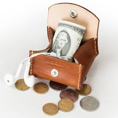 Men's / Women's Coin Purse Coin Wallet Handmade by CLWorkshop