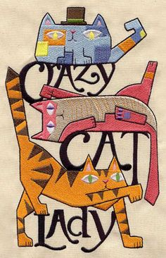 for the crazy cat lady quilt I will make for Mirandas wedding- lol