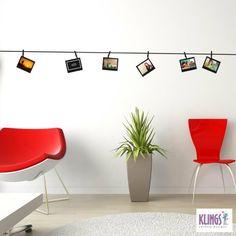 Los Vinilos Polaroid son una opción única para presentar tus fotografías en el espacio de tu hogar que elijas. Con seis láminas color negro, armá en tu pared la representación de un estudio fotográfico para tener al alcance de todos tus imágenes preferidas.  $90,00