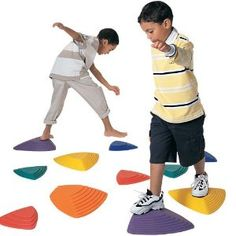 American Educational River Stone Set $74 for six stones. Five-stars on Amazon. Great for indoor or outdoor obstacle courses, open-ended toy