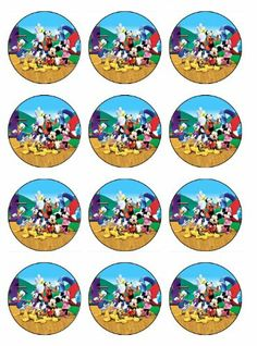 Mickey Mouse Clubhouse Birthday Party Ideas 12 Mickey Mouse Clubhouse Cupcake Toppers or Cookie Toppers EDIBLE IMAGE for Birthday Party EDIBLE CUPCAKE TOPPERS