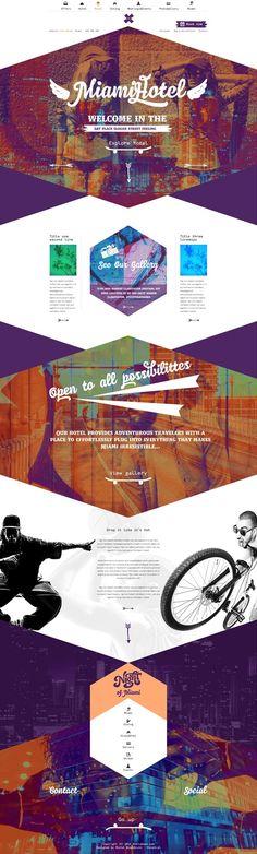 Unique Web Design, Miami Hotel #WebDesign #Design