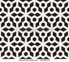 Vector Seamless Black And White Hexagonal Pattern. Geometric Mandala Tattoo, Abstract Tattoo Designs, Mandala Tattoo Design, Geometric Shapes, Geometric Pattern Design, Hexagon Pattern, Geometric Designs, Geometric Background, Background Patterns