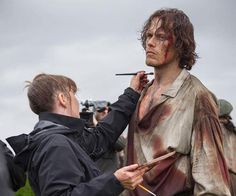 Outlander season 3 hits screens in September. Enjoy these behind-the-scenes pics of Sam Heughan and Clare while you wait. Poldark Tv Series, Ross Poldark, Outlander Season 3, Outlander Tv Series, Poldark Season 4, James Fraser Outlander, Ross And Demelza, Sam Heughan Caitriona Balfe, Eleanor Tomlinson