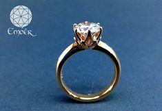 Red gold and diamond engagement ring. Bespoke Jewellery, Red Gold, Diamond Engagement Rings, Gallery, Handmade, Jewelry, Hand Made, Jewlery, Roof Rack