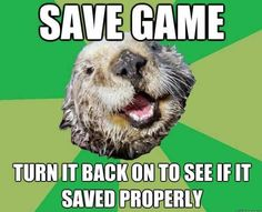 OCD otter...I don't do this with harvest moon, no I do not!