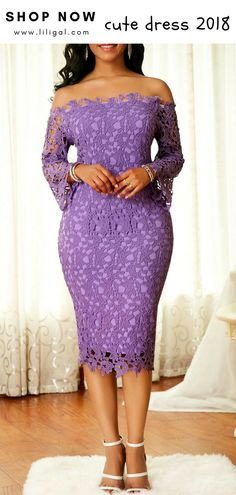 Crochet Long Sleeve Purple Bodycon Dress – African Fashion Dresses - African Styles for Ladies African American Fashion, African Fashion Dresses, African Dress, Fashion Outfits, Nigerian Fashion, African Style, Purple Bodycon Dresses, Sexy Dresses, Casual Dresses