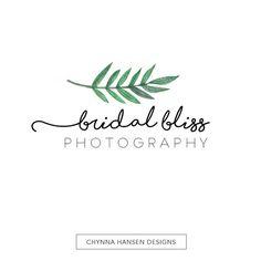 Premade Logo Design Photography Logo Watercolor Logo