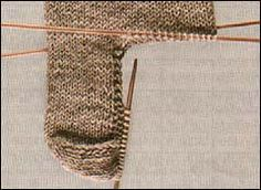 how to knit socks - picking up heel stitches