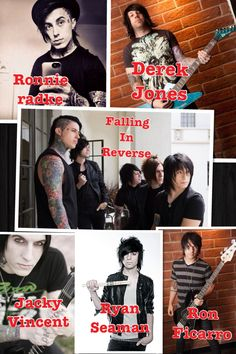 Falling in reverse - Ronnie Radke, Derek Jones, Jacky Vincent, Ryan Seaman and Ron Ficarro!