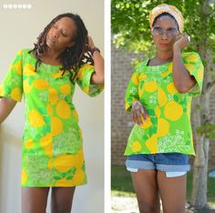 dress to tunic refashion, DIY top, cut stain from vintage dress and make a fab tunic top , cute tunic blouse from vintage dress, sewing, thrift store refashion, refashion clothes, upsize too small dress, easy sewing, easy refashion, how to alter dress tha