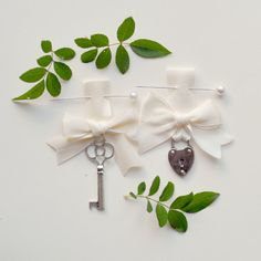 lock and key set 'GUARDED HEART' unique wedding by whichgoose, $40.00