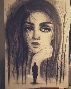 Find Escapism in Drawing Portraits. By Zahraa AlQallaf. Dark Art Drawings, Pencil Art Drawings, Realistic Drawings, Beautiful Drawings, Cute Drawings, Meaningful Paintings, Meaningful Drawings, Drawing Portraits, Portrait Art