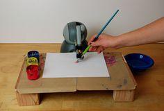 Carnegie Mellon University's robot painter. <br>Image: Courtesy of RobotArt</br>