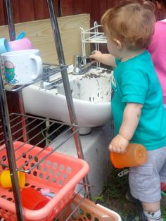From @BMNunhead mud kitchen in action, recycled and up cycled. The children love it.
