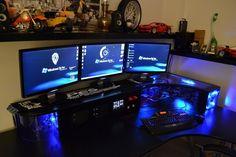 Beautiful desk computer case mod