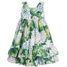 Dolce & Gabbana Girls 'Hydrangea' Sun Dress at Childrensalon.com