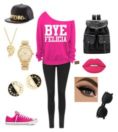 ¤Felicia¤ by elainia on Polyvore featuring polyvore fashion style Topshop Converse Michael Kors Sonal Bhaskaran Chanel Moschino Lime Crime clothing