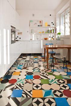 Patchwork. Tiles: Purpura. #cementtiles