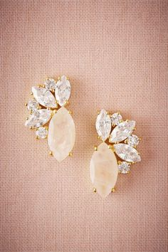 BHLDN Gold Radiant Moonstone Earrings in Shoes & Accessories   BHLDN