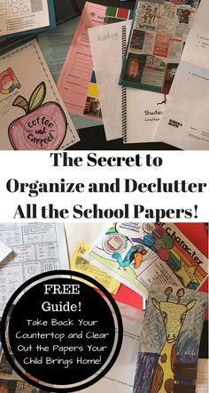 FREE Printable to organize paperwork at home to get your house decluttered from all the school paperwork at www.coffeeandcarpool.com