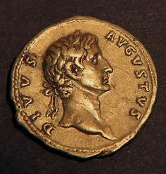 Rare coin portraying the Emperor Augustus
