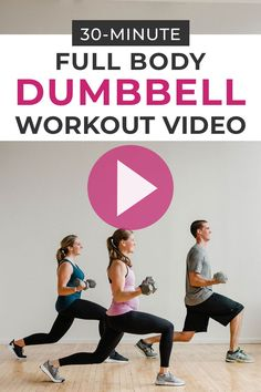 The toughest at-home workout video ever! 30 minutes of strength training and HIIT at home! This dumbbell workout is a pyramid style workout you can do in the comfort of your own home! #fitness #fitspo #fit #fitmom #workoutsforwomen #inspiration #workoutinspo