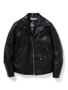 NN-J2401 | nonnative2013aw Menswear, Leather Jacket, Japanese, Hats, Jackets, Clothes, Fashion, Studded Leather Jacket, Down Jackets