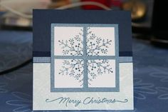 snowflake in the window by grumpy - Cards and Paper Crafts at Splitcoaststampers
