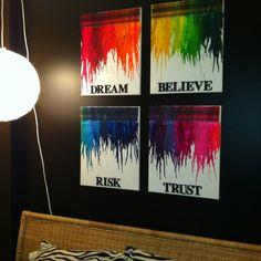 My bedroom Crayola art! Love it!!